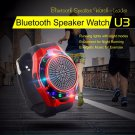 Sports U3 Bluetooth Wireless Watch Music Speaker TF Card FM Audio Radio Speaker