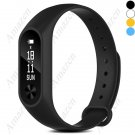 Best Value! M2 Smart Bracelet Activity Tracker Heart Rate Monitor, Fatigue, Pedo, Sleep Cal - Black