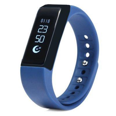 NEW! I5 Plus Fitness Activity Tracker Pedometer Calorie Sleep Sedentary Phone Msg Alert -Blue