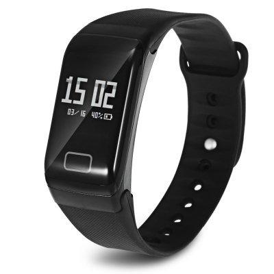 2017 Latest Model! TLW1 Smart Wristband Heart Rate Blood Pressure Blood Oxygen Pedometer Sleep-Black