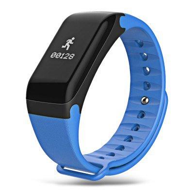 2017 Latest Model! TLW1 Smart Wristband Heart Rate Blood Pressure Blood Oxygen Pedometer Sleep -Blue