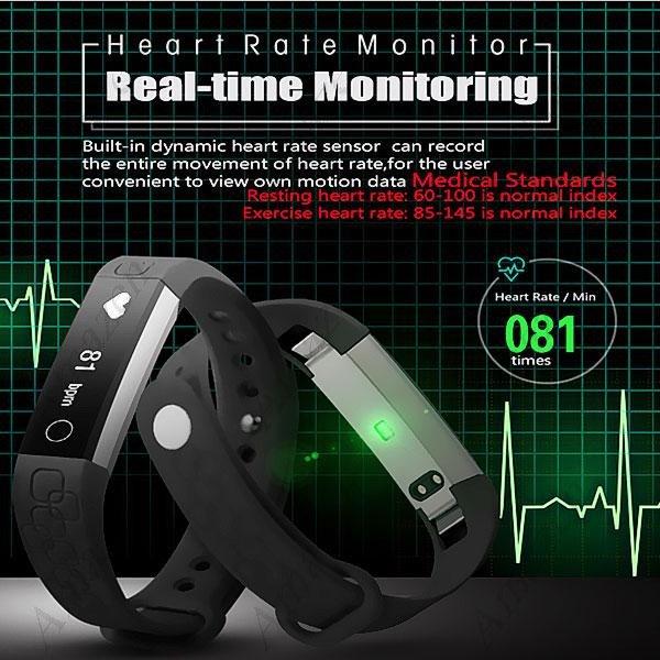 Latest Model! MK1 Smart Bracelet Heart Rate Monitor Pedometer Calorie Sleep Remote Camera Alarm