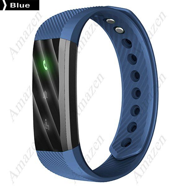 ID115HR Smart Bracelet Heart Rate Fitness Health Tracker - Blue