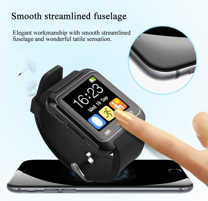 U80 Smart Watch Answer/Dial Calls, Pedometer, Sleep tracker, Altimeter, Stopwatch for Android
