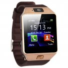 DZ09 Smart Watch Phone Make/Receive Calls Pedo Sleep Monitor Sedentary Remind Remote Cam - Gold