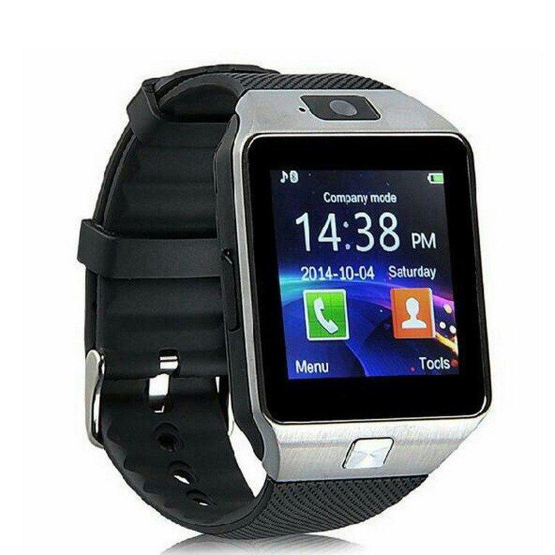 DZ09 Smart Watch Phone Make/Receive Calls Pedom Sleep Seden Remind MP3 Remote Cam- Silver