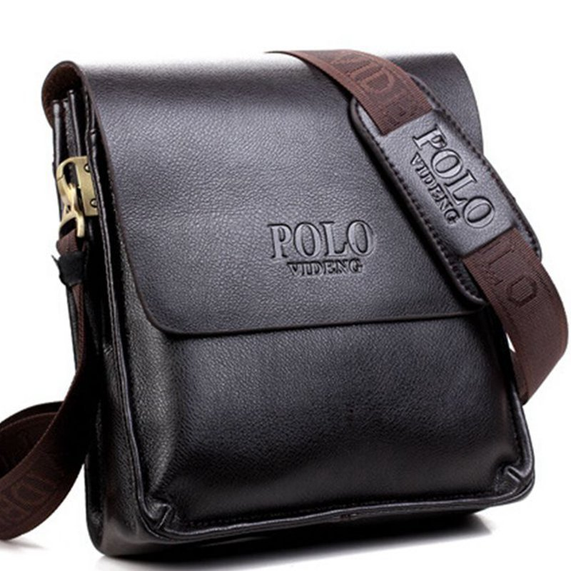 Top Quality! Men's Crossbody Messenger Bag Shoulder PU Leather