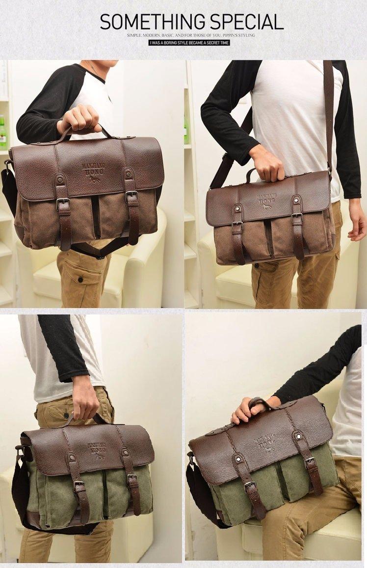2017 Men Canvas Vintage Casual Business Shoulder/Messenger Bag