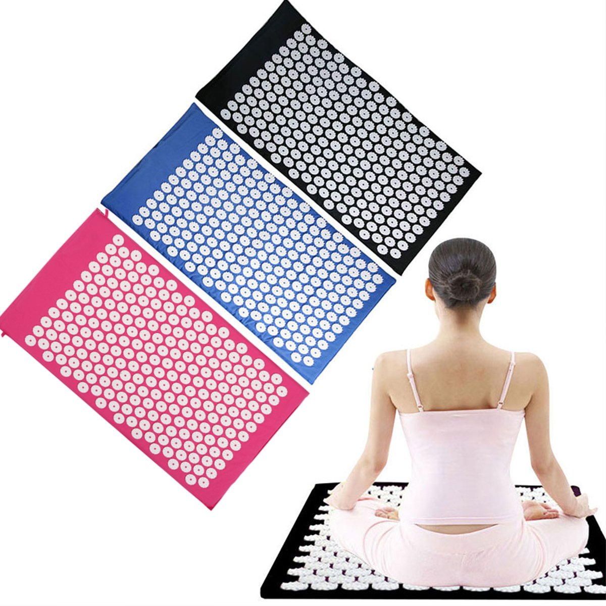 Acupressure Massager Yoga Mat Promote Circulation Relive Stress Pain Fatigue