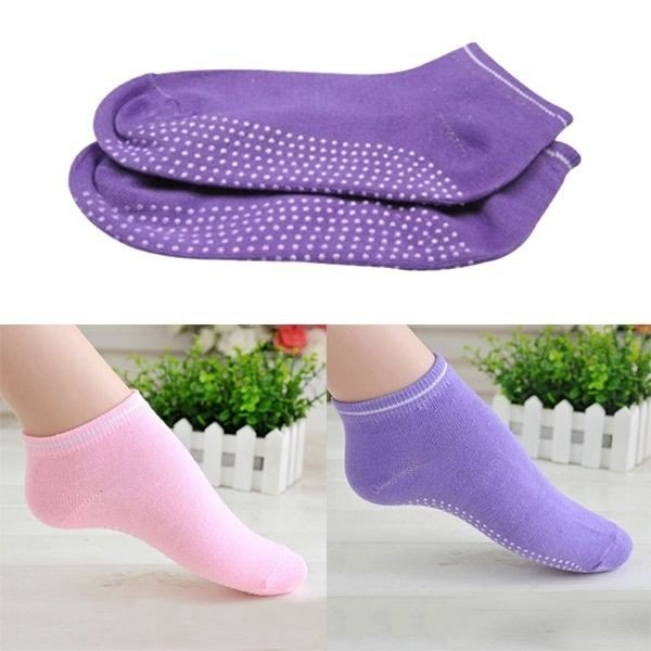 Pilates Yoga Anti Not Slip Grip Cotton Socks - 1 Pair