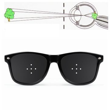 Anti Fatigue Vision Improve Eyesight 5-Pinhole Stenopeic UV400 Eye Care Sunglasses