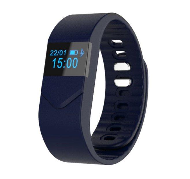 Pro M5 Smart Bracelet Fitness Tracker w Blood Pressure Oxygen Heart Rate Fatigue Monitor - Dark Blue