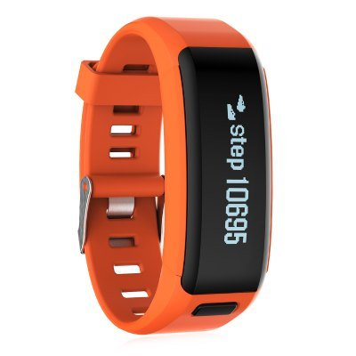 NO.1 F1 Smart Bracelet Heart Rate Monitor Calorie Sleep Pedometer Remote Cam - Orange