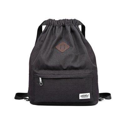 KAUKKO 21.6L large capacity Unisex Drawstring Backpack Bag - Black