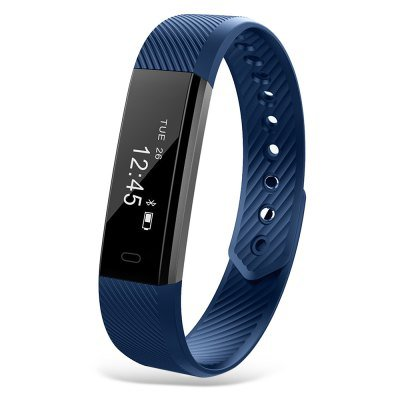 ID115 Smart Bracelet Fitness Health Tracker Pedometer Calorie Sleep - Blue