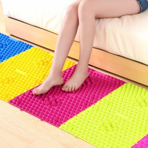 Shiatsu Inspired Reflexology Foot Massage Pad Toe Pressure Plate Mat -  1 Pc