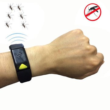 Ultrasonic Mosquitoes Repellent Bracelet Electronic Wristband Portable USB Charging Outdoor