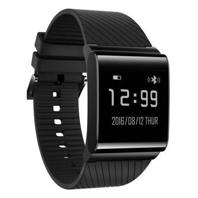X9 Plus Smart Bracelet Oximeter Blood Pressure Heart Rate Health Tracker - Black/Silver+Steel Strap