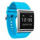 X9 Plus Smart Bracelet Oximeter Blood Pressure Heart Rate Health Tracker - Blue+Rubber Strap