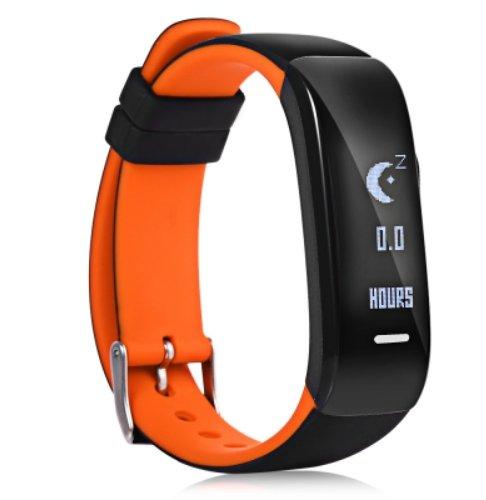 New! P1 Smart Activity Sports Bracelet Heart Rate Blood Pressure Stopwatch - Orange