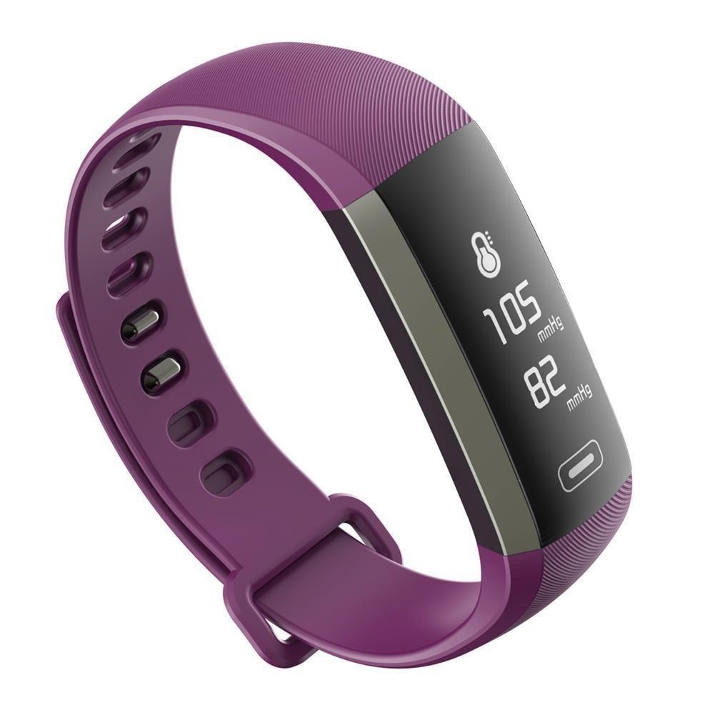 2017 LATEST MODEL! M2S PLUS Heart Rate Blood Pressure Activity Tracker-Smart Bracelet - Purple