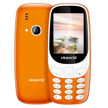 Fun! 2.4inch 3D Screen 1450mAh 2.0 MP Camera FM Dual SIM Card Dual Standby Moblie Phone - Orange