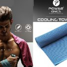 Power Ionics  Ice Cold Cooling Sports Gym Towel For Yoga, Pilates, Tennis, Basketball
