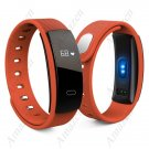 QS80 Smart Bracelet Fitness Tracker Blood Pressure Heart Rate Monitor - Orange