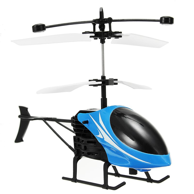 Mini RC Helicopter 3D Gyro Helicopter with USB Charging Cable - Red & Blue - 2 PCS