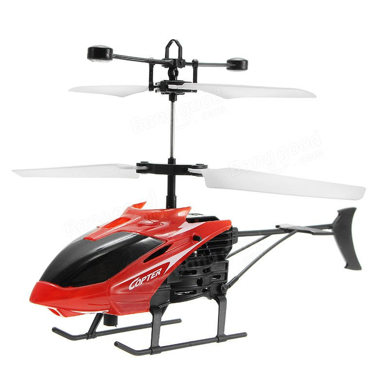 Mini RC Helicopter 3D Gyro Helicopter with USB Charging Cable - Red