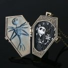 Nightmare Before Christmas Haloween Quartz Pocket Watch Retro Antique Pendant Necklace