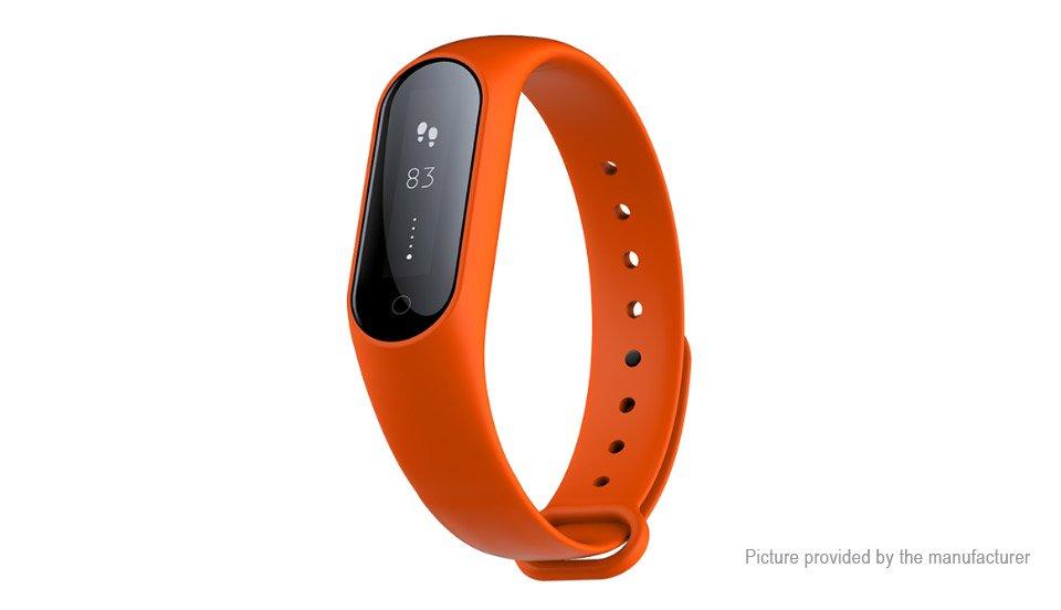 Latest Model! Y2+ Smart Fitness Bracelet Heart Rate Blood Pressure + Oxygen Pedometer Sleep - Orange
