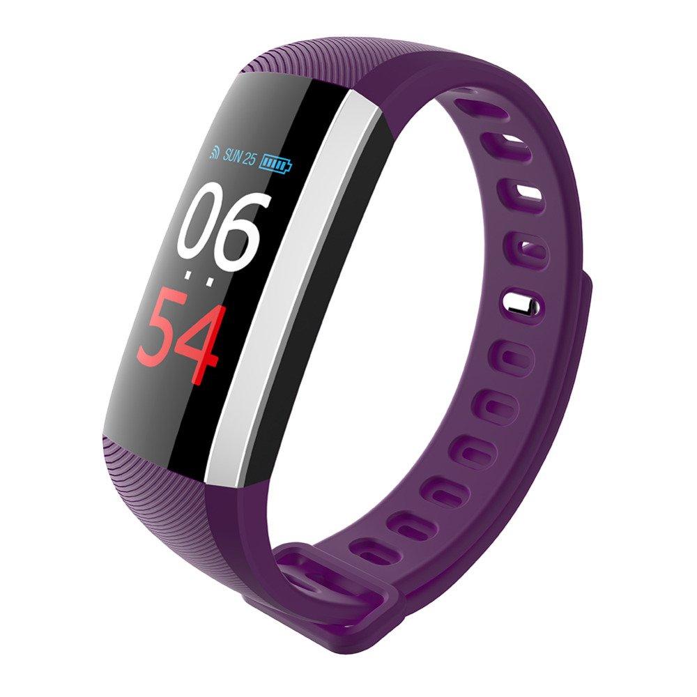 M2S-PRO Smart Bracelet Heart Rate Blood Pressure Oxygen Fatigue Monitor - Purple