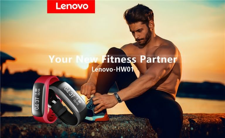 Lenovo HW01 BTH4.2 Smart Fitness Bracelet Dynamic Heart Rate Sleep Monitor Fitness Tracker - Black