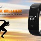 "ELE MGCOOL 2 0.66"" OLED Smart Bracelet Heart Rate IP67 - Black"