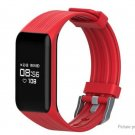 "MGCOOL 3 Fitness Tracker 0.66"" OLED IP68 Smart Bracelet Heart Rate Monitor Pedometer Sleep - Red"