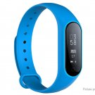 GEN Y2+ Plus 0.87' OLED Smart Fitness Bracelet Heart Rate Blood Pressure + Oxygen IP67 Pedo - Blue