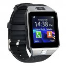 DZ09 Smart Watch Phone Fitness Tracker Make Receive Calls Media Voice Record - Silver
