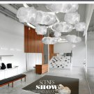 White Floating Cloud Light Fixture For Indoor Lighting Home Decoration Restaurants, Cafes