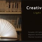 Foldable Paper Book Wooden Lamp LED Book Light USB charging