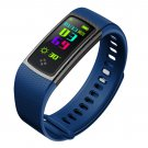 ALFA S9 Colorful Screen Smartband Heart Rate Blood Pressure Oxygen Measure Watch - Blue