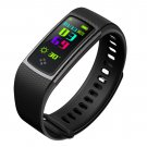 ALFA S9 Colorful Screen Smartband Heart Rate Blood Pressure Oxygen Measure Watch - Black