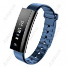 Latest! Zeblaze Arch Blood Oxygen Pressure Heart Rate Monitor F/T Watch for iPhone 8 Android - Blue