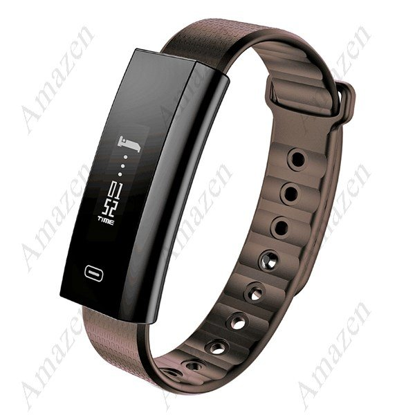 Latest! Zeblaze Arch Blood Oxygen Pressure Heart Rate Monitor F/T Watch for iOS Android- Coffee