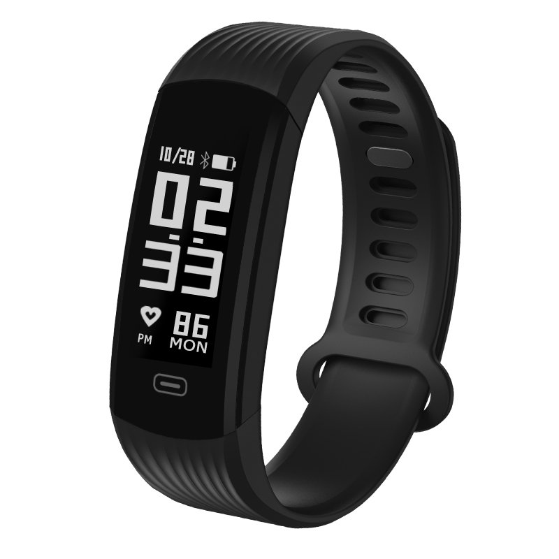 NEW! Zeblaze Plug Real-time Continuous Heart Rate Monitor All-day Activity Tracker 0.96'' - Black