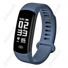 NEW! Zeblaze Plug Real-time Continuous Heart Rate Monitor All-day Activity Tracker 0.96'' - Blue