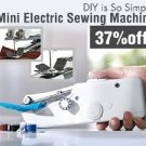 Cordless Portable Handy Mini Electric Handheld Sewing Machine Efflortless Sewing!
