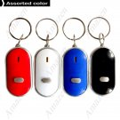 Portable Mini Whistle Sound Control LED Key Finder Locator Find Lost Keys Chain Keychain