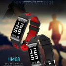 2018 HM68 Smart Wristband Fitness Tracker Heart Rate Blood Pressure Blood Oxygen Sports Bracelet