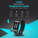 2018 HM68 Fitness Tracker Heart Rate Blood Pressure Blood Oxygen Sports Bracelet - Black
